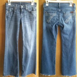 7 For all Mankind - Dojo Flare Jeans Cut Hem 25